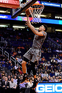 Feb 13, 2017; Phoenix, AZ, USA; Phoenix Suns guard Devin Booker (1) lays up the ball against the New Orleans Pelicans in the first half of the NBA game at Talking Stick Resort Arena. Mandatory Credit: Jennifer Stewart-USA TODAY Sports