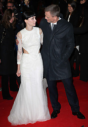 Daniel Craig and Rooney Mara  arriving for the premiere of The Girl With The Dragon Tattoo,  in London, Monday 12th December 2011. Photo by: Stephen Lock / i-Images