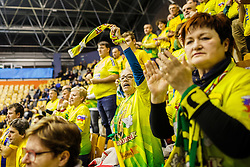 RK Celje Pivovarna Lasko fans during handball match between RK Celje Pivovarna Lasko (SLO) and IFK Kristianstad (SWE) in Group phase of EHF Men's Champions League 2016/17, on February 11, 2017 in Arena Zlatorog, Celje, Slovenia. Photo by Grega Valancic