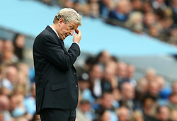 Crystal Palace manager Roy Hodgson looks dejected after the third goal - Mandatory by-line: Matt McNulty/JMP - 23/09/2017 - FOOTBALL - Etihad Stadium - Manchester, England - Manchester City v Crystal Palace - Premier League
