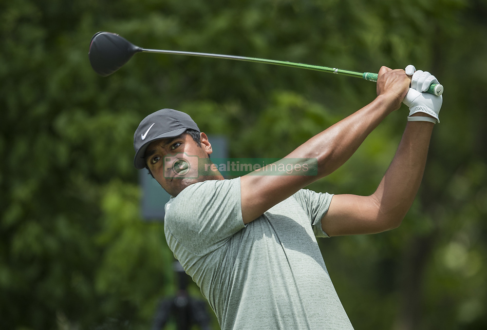 May 26, 2019 - Fort Worth, TX, USA - Tony Finau during the final round of the 2019 Charles Schwab Challenge PGA at Colonial Country Club. (Credit Image: © Erich Schlegel/ZUMA Wire)
