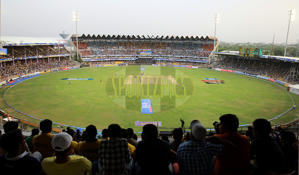 General View of the ground during match 25 of the Pepsi Indian Premier League Season 2014 between the Rajasthan Royals and the Kolkata Knight Riders held at the Sardar Patel Stadium, Ahmedabad, India on the 5th May  2014<br /> <br /> Photo by Sandeep Shetty / IPL / SPORTZPICS      <br /> <br /> <br /> <br /> Image use subject to terms and conditions which can be found here:  http://sportzpics.photoshelter.com/gallery/Pepsi-IPL-Image-terms-and-conditions/G00004VW1IVJ.gB0/C0000TScjhBM6ikg