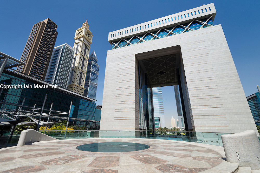 Dubai International Financial Centre in financial district of Dubai in United Arab Emirates UAE Middle East