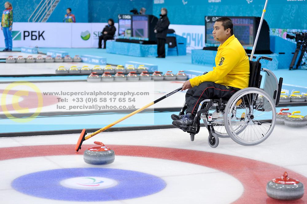 Haito Wang, Wheelchair Curling Semi Finals at the 2014 Sochi Winter Paralympic Games, Russia