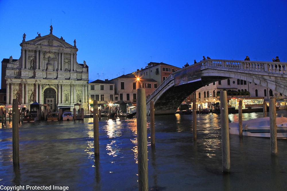 Night scene in Venice, Italy