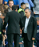 Chelsea v Fulham. Barclays Premier League. 29/09/2007. Manager of Fulham Lawrie Sanchez(L) and manager of Chelsea Avram Grant shake hands after the game