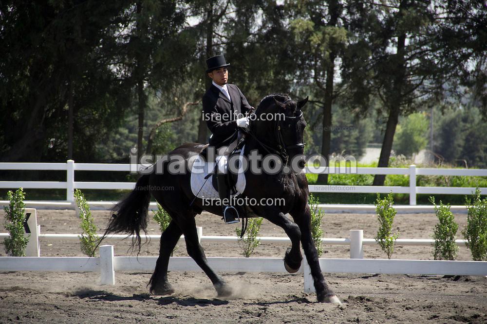 Horseman in a competition in Tultepec, Estado de Mexico, Mexico