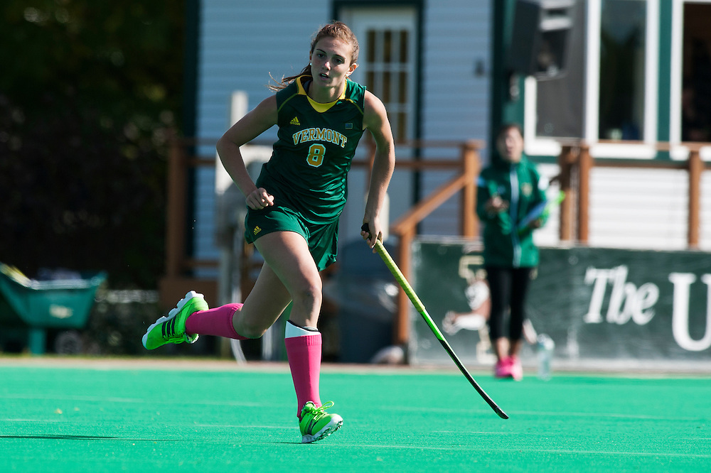 The women's field hockey game between Umass Lowell and Vermont at Moulton/Winder Field on Sunday afternoon October 4, 2015 in Burlington, Vermont.