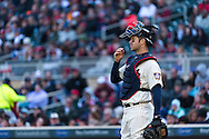 Joe Mauer #7 of the Minnesota Twins looks on during a game against the Detroit Tigers on April 3, 2013 at Target Field in Minneapolis, Minnesota.  The Twins defeated the Tigers 3 to 2.  Photo: Ben Krause