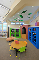 Building Photographer Jeffrey Sauers of Commercial Photographics of Maryland Image of Harford County Public Library Whitford Branch interior for Mullan Contracting Company and Lawrence Howard and Associates