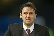 Nottingham Forest manager Dougie Freedman  during the Sky Bet Championship match between Burnley and Nottingham Forest at Turf Moor, Burnley, England on 23 February 2016. Photo by Simon Davies.