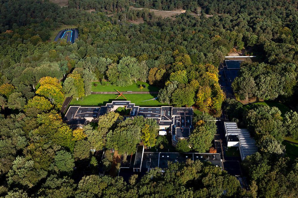 Nederland, Gelderland, Gemeente Ede, 03-10-2010; Nationaal Park De Hoge Veluwe, Museum Kroller-Muller. .luchtfoto (toeslag), aerial photo (additional fee required).foto/photo Siebe Swart