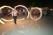 The notorious Full Moon Party at Hat Rin beach on the small Thai island of Ko Pha-Ngan is Asia's biggest regular rave event. Having fun with Bengali Fires.