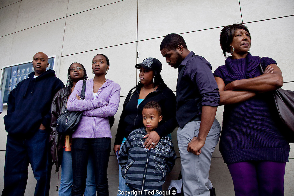 Family and friends of slain victims of the &quot;Grim Sleeper&quot; wait for the press conference to begin.<br /> LAPD and city officials hold a press conference to announce the capture of the &quot;Grim Sleeper&quot; serial murder suspect, Lonnie David Franklin jr.<br /> Franklin will be charged with 10 counts of murder, and one count of attempted later today.