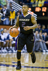 February 11, 2010; Berkeley, CA, USA;  Washington Huskies guard Isaiah Thomas (2) during the second half against the California Golden Bears at the Haas Pavilion.  California defeated Washington 93-81.