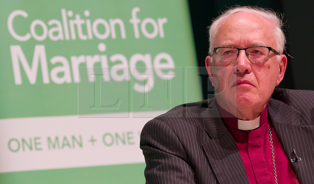 "© Licensed to London News Pictures. FILE PICTURE DATED 08/10/2012 of the former Archbishop of Canterbury , DR GEORGE CAREY , pictured at a Birmingham Town Hall meeting of The Coalition for Marriage as Lord Carey has today (30th March 2013) attacked Prime Minister David Cameron for making Christians feel marginalised . In an article for the Daily Mail , Lord Carey said the Prime Minister was "" aiding and abetting "" aggressive secularisation and that  "" more than two-thirds of Christians feel that they are part of a ' persecuted minority ' "" . Photo credit : Joel Goodman/LNP"