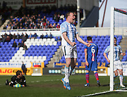 David Clarkson celebrates after firing Dundee ahead - Inverness v Dundee  - SPFL Premiership at the Caledonian Stadium<br /> <br />  - &copy; David Young - www.davidyoungphoto.co.uk - email: davidyoungphoto@gmail.com