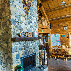 Details inside the main lodge at the Appalachian Mountain Club's Little Lyford Lodge in Maine's 100 Mile Wilderness.