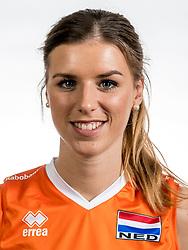 22-05-2017 NED: Nederlands volleybalteam vrouwen, Utrecht<br /> Photoshoot met Oranje vrouwen seizoen 2017 / Britt Bongaerts #12