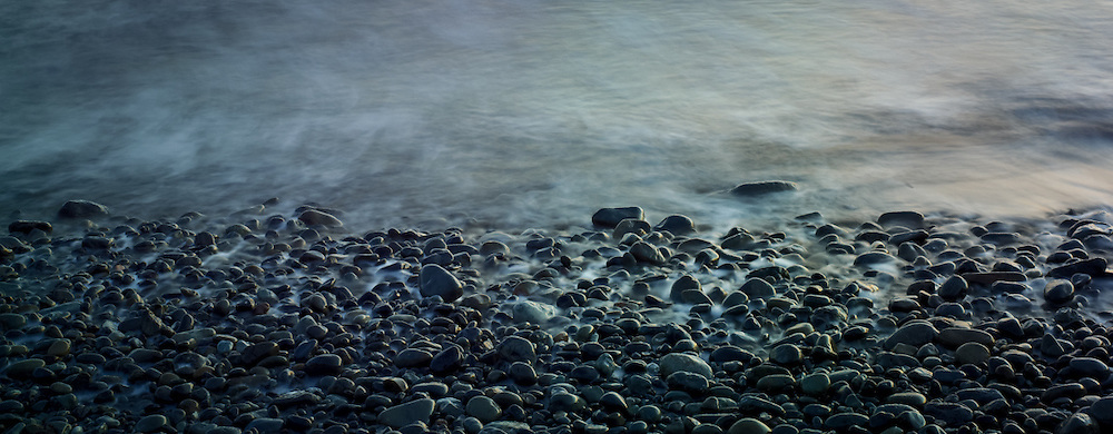 Pebbles on a Northern California beach