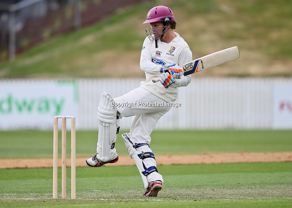 Northern Knight's James Marshall plays a hook shot during Day 1 of the Plunket Shield Cricket match, Northern Knights v Canterbury Wizards at Seddon Park, Hamilton on Sunday 2 December 2012.  Photo: Bruce Lim / Photosport.co.nz