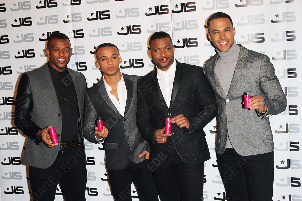 31.JANUARY.2013. LONDON<br /> <br /> JLS BAND MEMBERS ATTEND THE LAUNCH OF THEIR NEW FRAGRANCE HELD AT 0NE MAYFAIR, LONDON.<br /> <br /> BYLINE: EDBIMAGEARCHIVE.CO.UK<br /> <br /> *THIS IMAGE IS STRICTLY FOR UK NEWSPAPERS AND MAGAZINES ONLY*<br /> *FOR WORLD WIDE SALES AND WEB USE PLEASE CONTACT EDBIMAGEARCHIVE - 0208 954 5968*