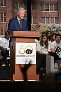 Former President Bill Clinton joins the remaining members of the Little Rock Nine in marking the 60th Anniversary of the desegregation of Central High School in Little Rock, Arkansas, September 25, 2017.