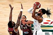 ILCE-9M2 • FE 400mm F2.8 GM OSS<br /> f/4 • ISO 2500 • 1/1250<br /> <br /> BanksAdrian <br /> Umana Reyer Venezia - Happy Casa Brindisi<br /> LBA Final Eight 2020 Zurich Connect - Finale<br /> Basket Serie A LBA 2019/2020<br /> Pesaro, Italia - 16 February 2020<br /> Foto Mattia Ozbot / CiamilloCastoria