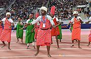 Dancers perform during the IAAF Doha Diamond League 2019 at Khalifa International Stadium, Friday, May 3, 2019, in Doha, Qatar (Jiro Mochizuki/Image of Sport)