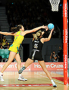 Susan Fuhrmann (AUS) / Irene Van Dyk (NZ)<br /> Netball - 2009 Holden International Test Series<br /> Australian Diamonds v New Zealand Silver Ferns<br /> Wednesday 9 September 2009<br /> Hisense Arena, Melbourne AUS<br /> © Sport the library / Jeff Crow
