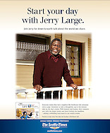 Seattle Times ad promoting columnist Jerry Large.