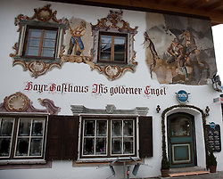 04.02.2011, Garmisch Partenkirchen, GER, FIS Alpine World Championships Garmisch Partenkirchen, Vorberichte, im Bild Preview images for the 2011 Alpine skiing World Championships. A decorated old hunting lodge now a cafe in the town, EXPA Pictures © 2011, PhotoCredit: EXPA/ M. Gunn