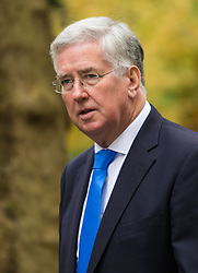 Downing Street, London, November 17th 2015. Defence Secretary Michael Fallon arrives at Downing Street for the weekly cabinet meeting.