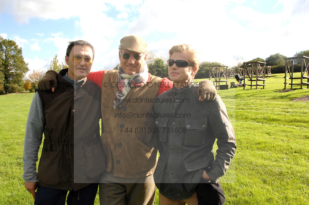 Left to right, LUC ROEG, CHARLES FINCH and ANDREW CONRAD at the Finch &amp; Partners Clay Pigeon Shoot in aid of Battersea Dogs Home at the Holland &amp; Holland Shooting Ground, Ruislip, Middlesex on 17th October 2007.<br /><br />NON EXCLUSIVE - WORLD RIGHTS