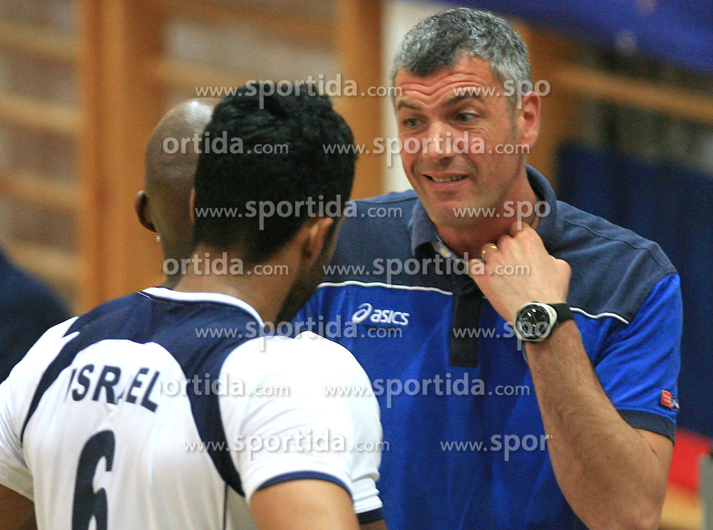 Coach of Salonit Emanuele Fracascia at last final volleyball match of 1.DOL Radenska Classic between OK ACH Volley and Salonit Anhovo, on April 21, 2009, in Arena SGS Radovljica, Slovenia. ACH Volley won the match 3:0 and became Slovenian Champion. (Photo by Vid Ponikvar / Sportida)