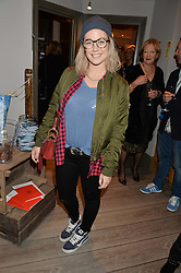 ELLIE SHEPHERD at a Fondue evening hosted by Rose van Cutsem and her brother Tom Astor to celebrate the new ski Season with leading ski resort Meribel, Besson Clothing and ESF ski schools at Maggie & Rose, 58 Pembroke Road, London on 7th November 2016.