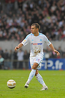 FOOTBALL - FRENCH LEAGUE CUP 2010/2011 - 1/8 FINAL - EA GUINGAMP v OLYMPIQUE MARSEILLE - 27/10/2010 - PHOTO JEAN MARIE HERVIO / DPPI - BENOIT CHEYROU (OM)