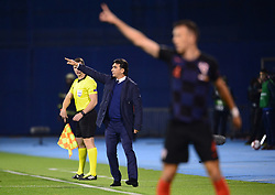 ZAGREB, Nov. 15, 2018  Croatia head coach Zlatko Dalic during the UEFA Nations League A group 4 match between Croatia and Spain at Maksimir stadium in Zagreb, Croatia, on November 15. Croatia won 3:2. (Credit Image: © Marko Prpic/Pixsell/Xinhua via ZUMA Wire)