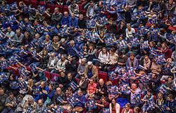 02-11-2016 NED: CEV CL Abiant Lycurgus - Dobruja 07 Dobrich, Groningen<br /> In een volgepakt MartinaPlaza speelt Lycurgus de eerste wedstrijd in de Champions League. Lycurgus wint de eerste wedstrijd met 3-0 / support publiek