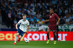 March 22, 2019 - Madrid, MADRID, SPAIN - Juan Foyth of Argentina and Wuilker Farinez of Venezuela during the international friendly football match played between Argentina and Venezuela at Wanda Metropolitano Stadium in Madrid, Spain, on March 22, 2019. (Credit Image: © AFP7 via ZUMA Wire)