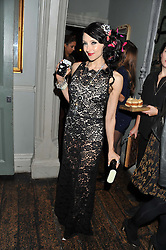 STACEY BENDET at a carnival themed party hosted by Stacey Bendet for the Alice & Olivia fashion label at Paradise, Kensal Green, London on 9th November 2011