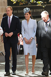 The Duke and Duchess of Cambridge attend the Easter Sunday Church Service at St.Andrew's Cathedral in Sydney, Australia, Sunday, 20th April 2014. Picture by Stephen Lock / i-Images