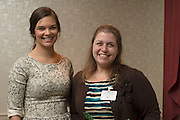Senior Cutler Scholar Kelsey Davis and her mentor Dr. Joann Benigno, a Associate Professor in the School of Rehabilitation and Communication Sciences pose for a photo during the Cutler Scholar Senior Mentor Dinner. © Ohio University / Photo by Olivia Wallace