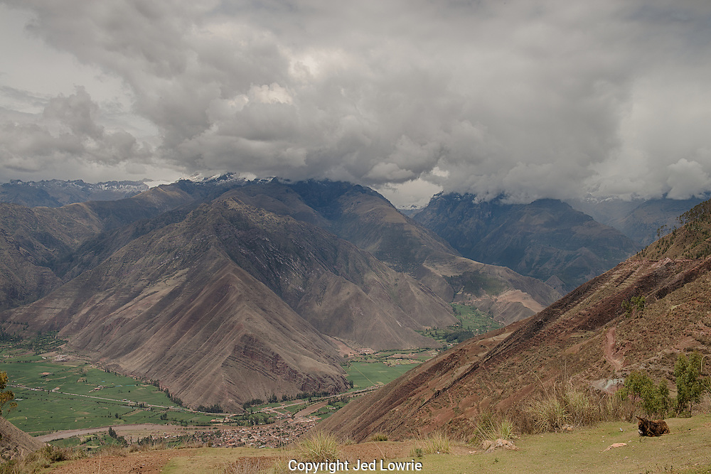 The Sacred Valley is a beautiful place that helped sustain the Incan empire.  It not only grew the produce that fed the people, but it offered a buffer zone in between the jungle and Cusco in case of invaders.