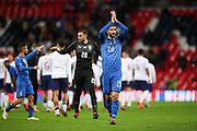 Italy forward Roberto Gagliardini (20) applauds the visiting fans after the Friendly match between England and Italy at Wembley Stadium, London, England on 27 March 2018. Picture by Toyin Oshodi.