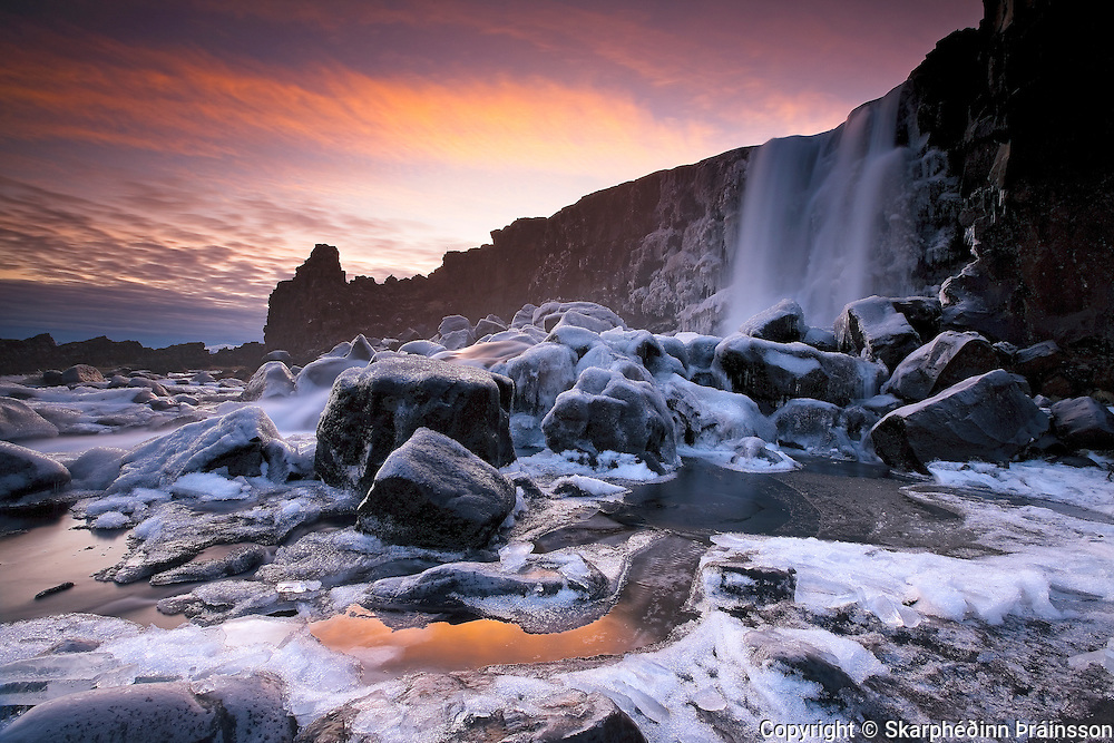 Öxarárfoss in Þingvellir National Park, south-west Iceland