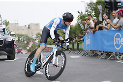 May 4, 2018 - Jerusalem, ISRAEL - Belgian Ben Hermans of Israel Cycling Academy pictured in action during the first stage of the 101st edition of the Giro D'Italia cycling tour, an individual time trial (9,7km) in Jerusalem, Israel, Friday 04 May 2018...BELGA PHOTO YUZURU SUNADA FRANCE OUT (Credit Image: © Yuzuru Sunada/Belga via ZUMA Press)