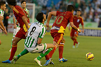 Renella (L) and Jesus Vazques (R) during the match between Real Betis and Recreativo de Huelva day 10 of the spanish Adelante League 2014-2015 014-2015 played at the Benito Villamarin stadium of Seville. (PHOTO: CARLOS BOUZA / BOUZA PRESS / ALTER PHOTOS)
