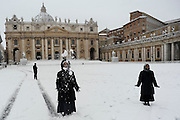 Snow in St Peter Square