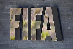 21.03.2014, Home of FIFA, Zuerich, SUI, FIFA, Pressekonferenz des Exekutivkomitee, im Bild FIFA Logo auf dem Hauptgebaeude // during a press conference of the FIFA Executive Committee at the Home of FIFA in Zuerich, Switzerland on 2014/03/21. EXPA Pictures © 2014, PhotoCredit: EXPA/ Freshfocus/ Andreas Meier<br /> <br /> *****ATTENTION - for AUT, SLO, CRO, SRB, BIH, MAZ only*****